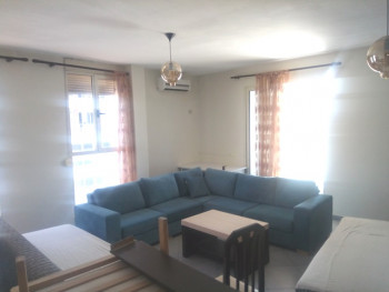 Two bedroom apartment for rent in Reshit Petrela street in Tirana, Albania. It is located on the 7-
