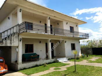 Two storey villa for sale in Gryke Lumi area in Lezhe, Albania. The villa is located about 500m fro