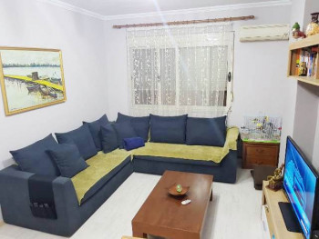 Two bedroom apartment for rent in Sali Butka street in Tirana, Albania. It is located on the third