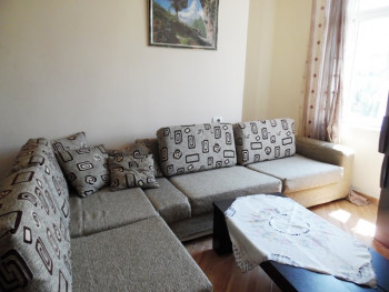 Two bedroom apartment for rent in Reshit Collaku street in Tirana, Albania. It is located on the 5-