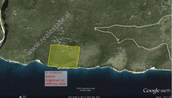 Land for sale on the coast of Gjipe. It is located a few meters from the seashore. The land has an