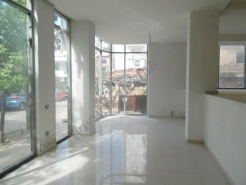 Store space for rent in Mujo Ulqinako street in Tirana, Albania.