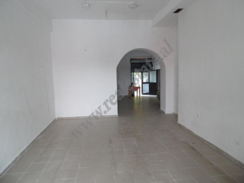 Store space for rent in Pjeter Budi street in Tirana, Albania.