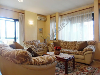 Two bedroom apartment for rent in Donika Kastrioti Street in Tirana.  It is situated on the 7th fl