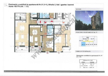 Apartments for sale in Kongresi I Manastirit street in Tirana, Albania. There are offered 4 apartme