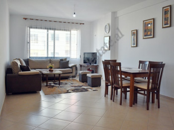 Two bedroom apartment for rent in Hito Cako Street in Tirana. It is positioned on the sixth floor o