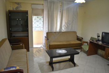 Two bedroom apartment for rent in Mujo Ulqinako street in Tirana, Albania. It is located on the sev