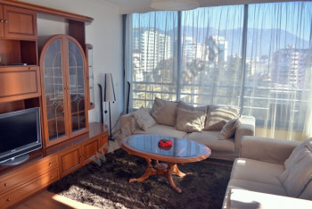 Two bedroom apartment for rent in Vaso Pasha street in Tirana, Albania. It is located on the sevent