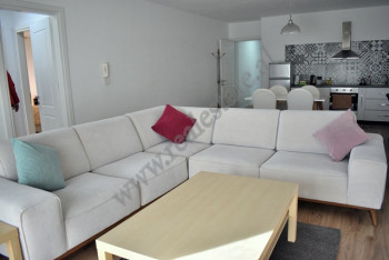Two bedroom apartment for rent in Bogdaneve street in Tirana, Albania. It is located on the 7-th fl