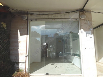Store space for rent in Ali Visha street in Tirana, Albania.