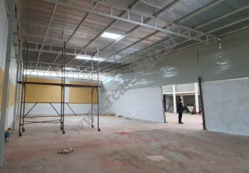 Warehouse for rent in Limuthi Street in Tirana, Albania.