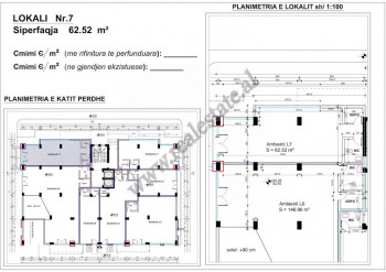 For sale store space in Frosina Plaku street in Tirana, Albania.