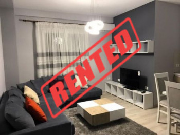 Two bedroom apartment for rent close to Crystal Center in Tirana.  It is located in Shkelqim