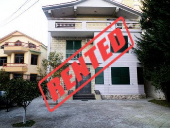 Three storey Villa for rent close to Dinamo Complex in Tirana.  It has 370m2 of construction