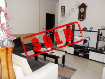 Apartment for sale close to Siri Kodra Street in Tirana.  It is situated on the 3-rd floor in a ne