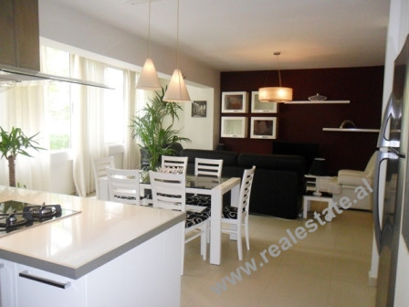Two bedroom apartment for rent in Tirana. It is situated on the 2nd floor of a new building, with 11
