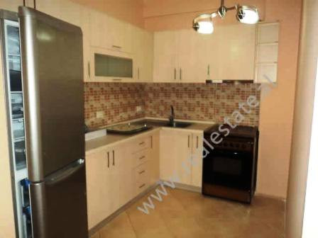 Duplex apartment for rent in Tirana. The apartment is organized in two floors (3rd and 4th of the bu