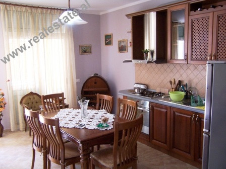 Three bedroom apartment for rent in Tirana. The apartment is situated on the last floor of a new bu