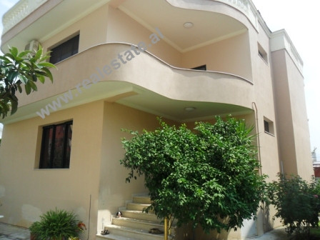 Two storey villa for rent in Bilal Golemi Street in Tirana.