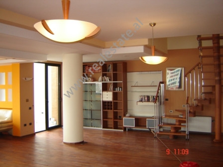 Penthouse Duplex for rent in Ibrahim Rugova Street in Tirana, Albania.New Exclusive in one of Tirana