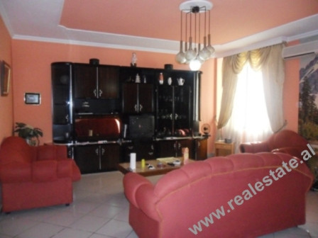 Two bedroom apartment for rent in front of Petro Nini Highschool in Tirana. The flat is situated on