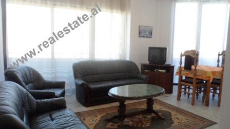 Two bedroom apartment for rent close to the Park of Tirana. The flat is situated on the 12th and las