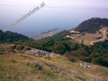 Land for sale in the Gjiri i Lalzit. The land lies in a hilly area, about 300m away from the beach.