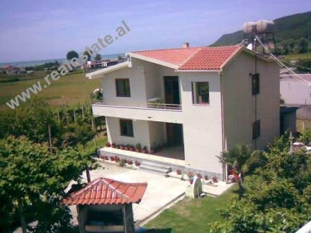 Two storey villa for sale in Lalzit Bay in Albania. The villa is situated on a plot of 1300sqm, wher