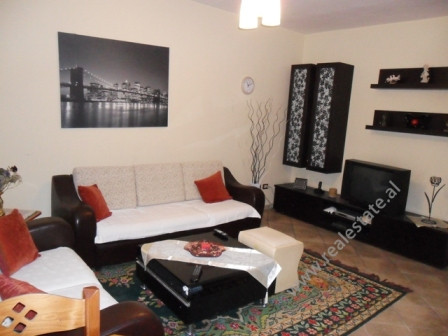 Two bedroom apartment for rent in Muhamet Gjollesha Street in Tirana. The apartment is located on th