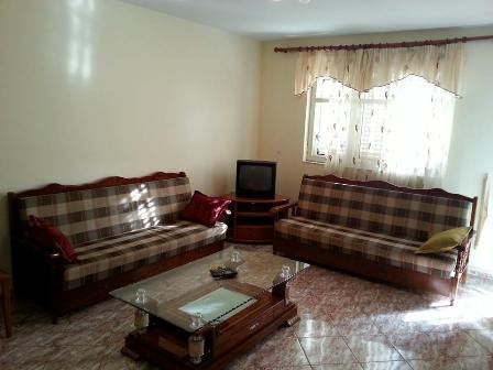 Apartment for rent in Garden City Complex in Tirana. It is situated on the third floor in a new Com