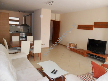 Modern apartment for sale in Fatmir Haxhiu Street in Tirana. It is situated on the 4-th floor in a