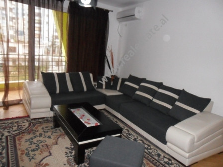 Apartment for rent in Eshref Frasheri Street in Tirana.  It is situated on the 3-rd floor in a new
