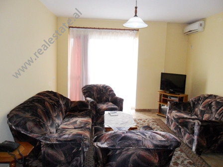 Apartment for rent in Mujo Ulqinaku Street in Tirana. It is situated on the 5-th floor in a new buil