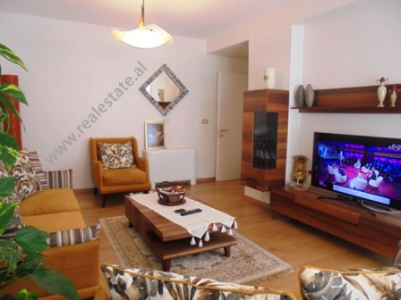 Modern apartment for rent at Nobis Center in Tirana.