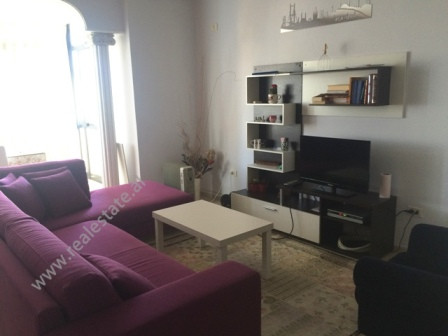 Two bedroom apartment for rent in Kavaja Street in Tirana. Positioned on the 8th floor of a new buil