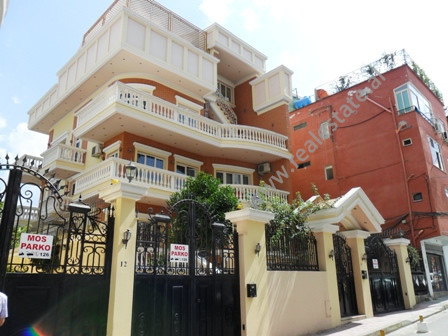 Modern villa for rent in Bilal Golemi Street in Tirana.