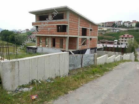 Villa for sale near Daxhit Street in Sauk area in Tirana. The villa is unfinished and it is located