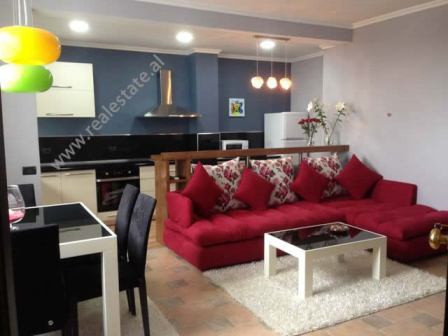 One bedroom apartment for rent in the center of Tirana.  Positioned on the eigth floor of a new bu