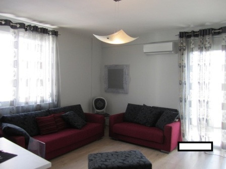 Apartment for rent in front of Kodra e Diellit Residence entrance in Tirana.