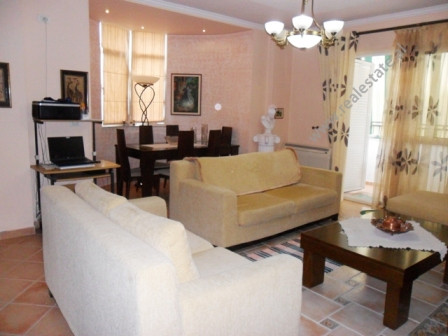 Apartment for rent near Faik Konica Street in Tirana. It is situated on the 10-th in a new building