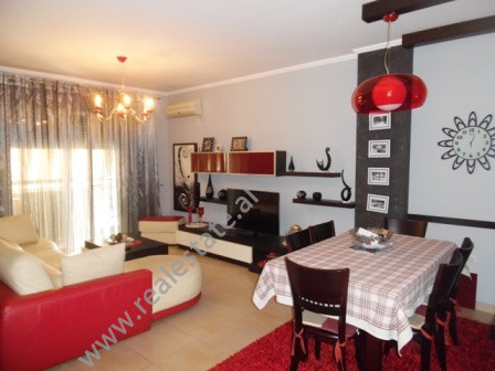 Two bedroom apartment for rent near the Italian Embassy in Tirana.  The apartment is situated on 9
