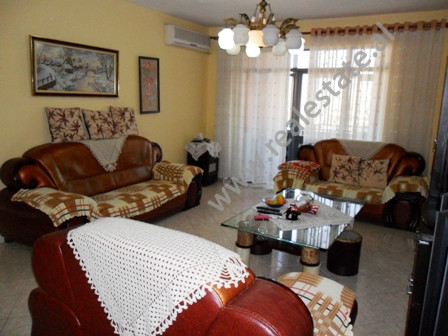 Apartment for sale in Muhamet Gjollesha Street in Tirana. It is situated on the 7-th floor in a bui