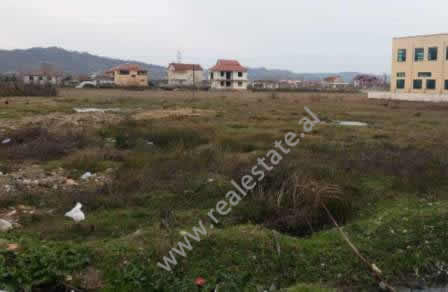 Land for sale in Vore-Fushekruje Street in Tirana. The land is located on the side of the main road