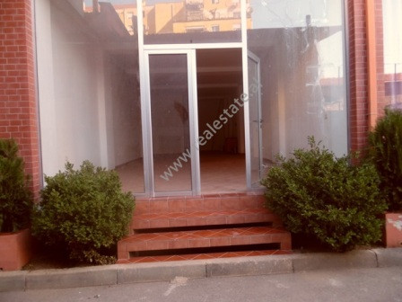 Store for rent in Vllazen Huta Street in Tirana. The store is located on the ground floor of a new