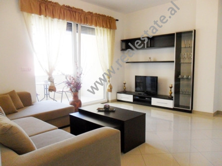 Apartment for rent in Bogdaneve Street in Tirana. It is situated on the 5-th floor in a new buildin