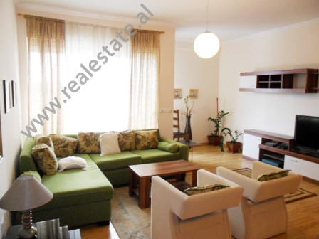 Modern apartment for rent in Bogdaneve Street in Tirana. It is situated on the 5-th floor in a new