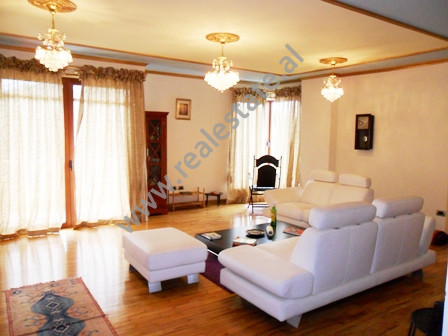 Modern apartment for rent in Faik Konica Street in Tirana. It is situated on the 10-th floor in a n