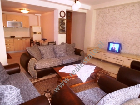 Two bedroom apartment for rent in Mihal Grameno Street in Tirana. The apartment is situated on the
