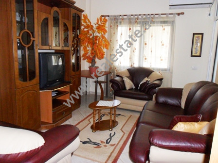 Apartment for rent close to Beder University in Tirana. It is situated on the 12-th floor in a new