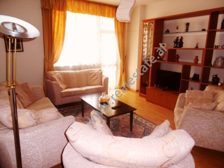 Apartment for rent close to Elbasani Street in Tirana.  It is sitaued on the 5th floor of a new bu